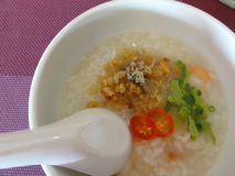 Soft boiled rice or rice soup Royalty Free Stock Photos