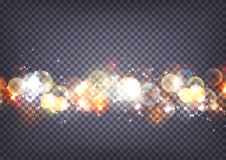 Soft bokeh and lights background transparent. Soft bokeh and lights horizontal background transparent Stock Images