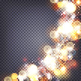 Soft bokeh and lights background transparent. Soft bokeh and lights square background transparent Royalty Free Stock Photo