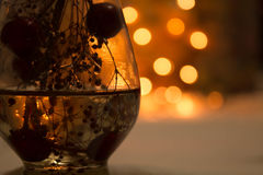 Soft bokeh yellow and orange lights in background royalty free stock image