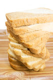 Soft bread. Soft, cut on a table bread, on a white background Royalty Free Stock Photos