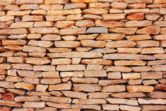 Soft Bricks. Brick wall of light-colored stone Royalty Free Stock Photos