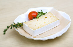 Soft brie cheese Stock Photo