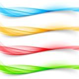 Soft bright colorful web border layout set Stock Photography
