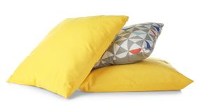 Soft bright pillows,