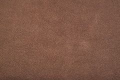Soft Brown Leather With Marks. Picture of bovine leather which can be used as a pattern or texture Stock Photography