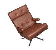 Soft brown leather stylish chair Stock Photography