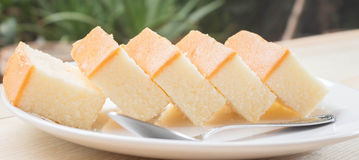 Soft butter cake Stock Photography
