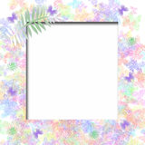Soft Butterfly Frame Stock Image