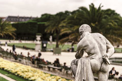 Soft and calmness view of Luxembourg garden, Paris. France royalty free stock image
