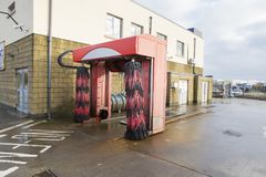 Soft car wash from a fuel station royalty free stock photo