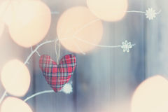 Soft checkered heart Royalty Free Stock Images
