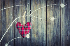 Soft checkered heart Royalty Free Stock Image