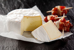Soft Cheese and Cured Meat Appetizers Royalty Free Stock Image