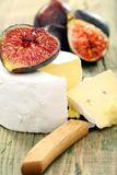 Soft cheese with figs. Royalty Free Stock Photo