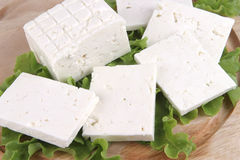 Soft cheese on plate Stock Photography