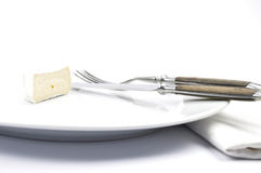 Soft cheese on plate Royalty Free Stock Photography