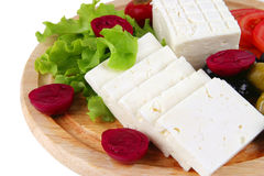 Soft cheese served Stock Photo