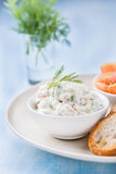 Soft cheese spread with salmon and green onion Stock Photography