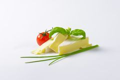 Soft cheese with thin white rind Royalty Free Stock Images