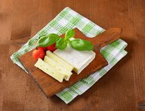 Soft cheese with thin white rind Stock Image