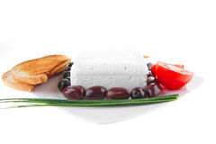 Soft cheese and tomatoes Stock Images