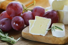 Soft cheese with a white mold Royalty Free Stock Photography