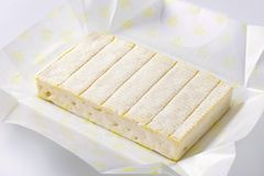 Soft Cheese With Thin White Rind Stock Photography