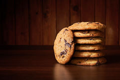 Soft and chewy chocolate chip cookies Royalty Free Stock Photo
