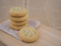 Soft and chewy chocolate chips and raisin cookies Royalty Free Stock Image