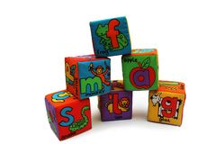 Soft children cubes Stock Photography
