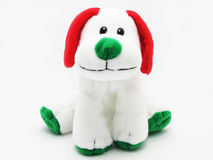 Soft children`s toy dog ​​on a white background Stock Photos