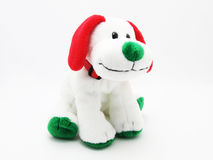 Soft children`s toy dog ​​on a white background Stock Photography