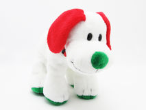 Soft children`s toy dog ​​on a white background Stock Image