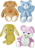 Soft children toys. Baby bear bedroom Stock Images