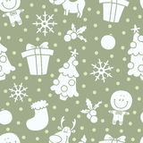 Soft christmas pattern Stock Photos