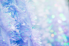 Soft Christmas tinsel Stock Images
