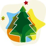 Soft christmas tree Royalty Free Stock Image