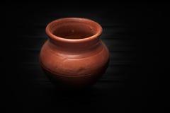 Soft clay pot : pitcher Stock Photos