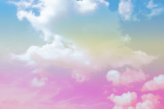 Soft cloud background with a pastel color Stock Images