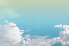 Soft cloud and sky with pastel gradient colo. R for background backdrop royalty free stock photography