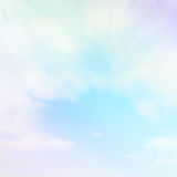 Soft cloud and sky with pastel gradient color Stock Photos