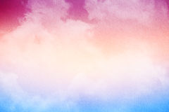 Soft cloud and sky with pastel gradient color and grunge texture Royalty Free Stock Photo