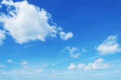 Soft clouds in the blue sky Royalty Free Stock Images