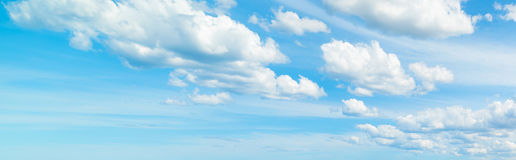 Soft clouds in the blue sky Royalty Free Stock Photography