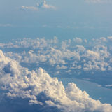 Soft clouds over view Royalty Free Stock Photos