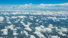 A soft clouds and sky. Floats above the ground Royalty Free Stock Images