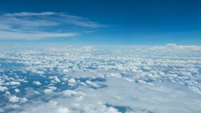 A soft clouds and sky. Floats above the ground Stock Photos