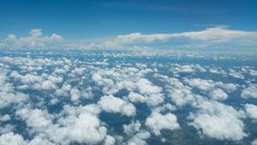 A soft clouds and sky. Floats above the ground Stock Image