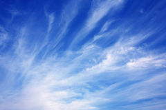 Soft cloudy sky. Soft cloudy blue sky making a beautiful nature background Stock Photo